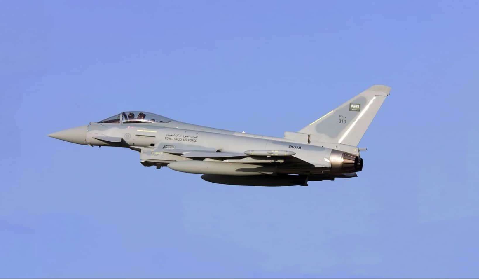 Der Eurofighter im Einsatz der Saudischen Luftwaffe. (Bild von Lighthouse Reports)