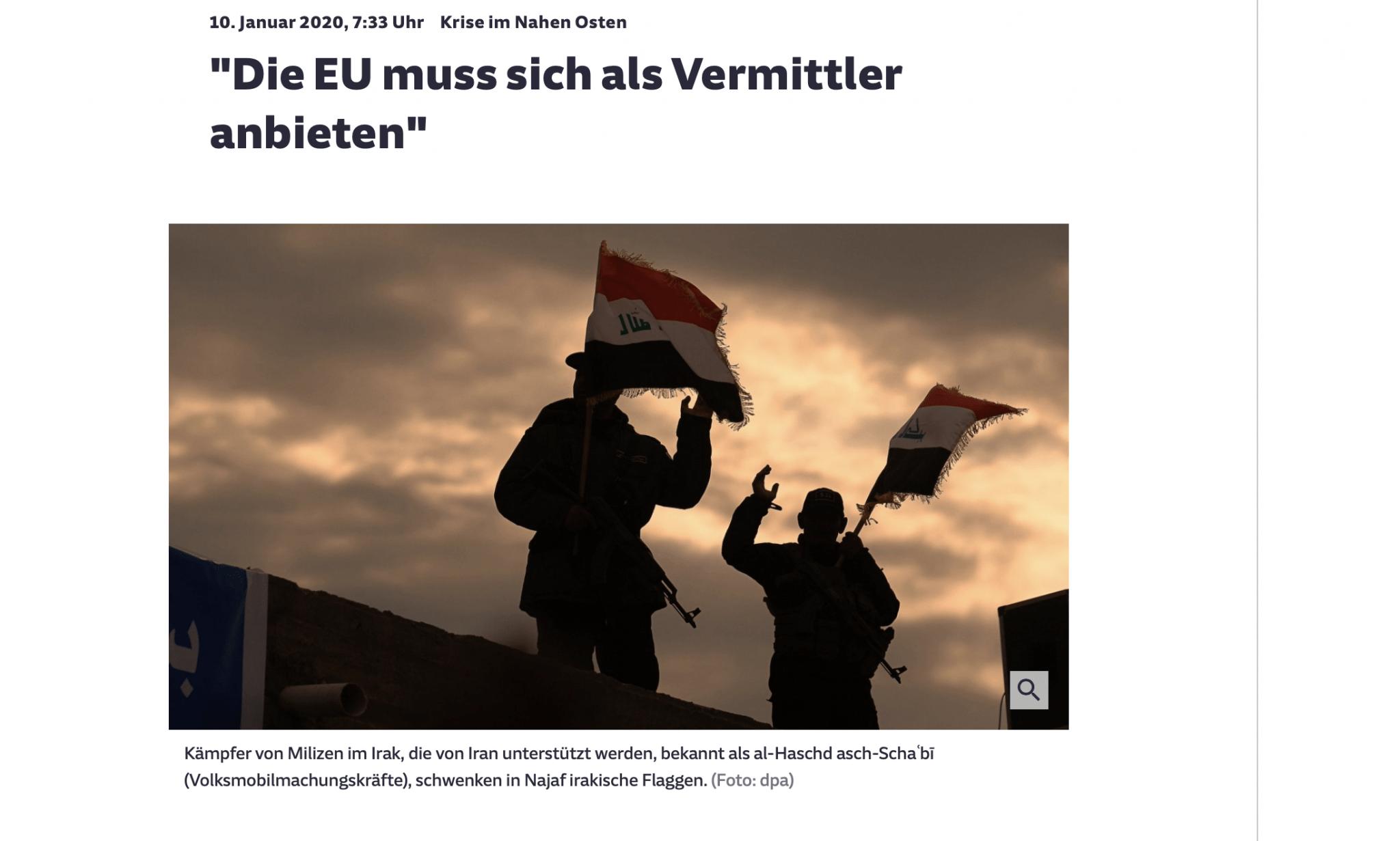 Screenshot: Interview in der Süddeutschen Zeitung