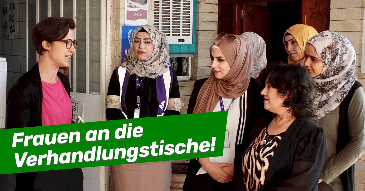 Frauen an die Verhandlungstische