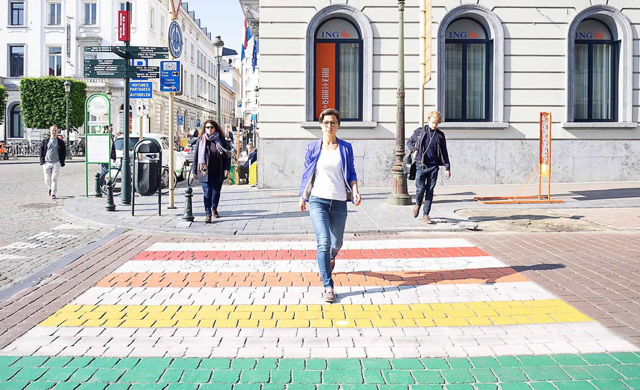 Hannah in Brüssel