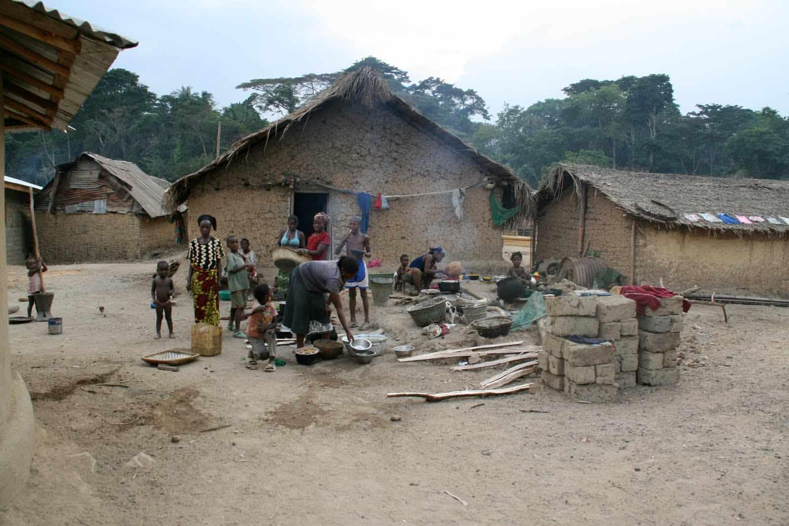 Feuerplatz in Liberia