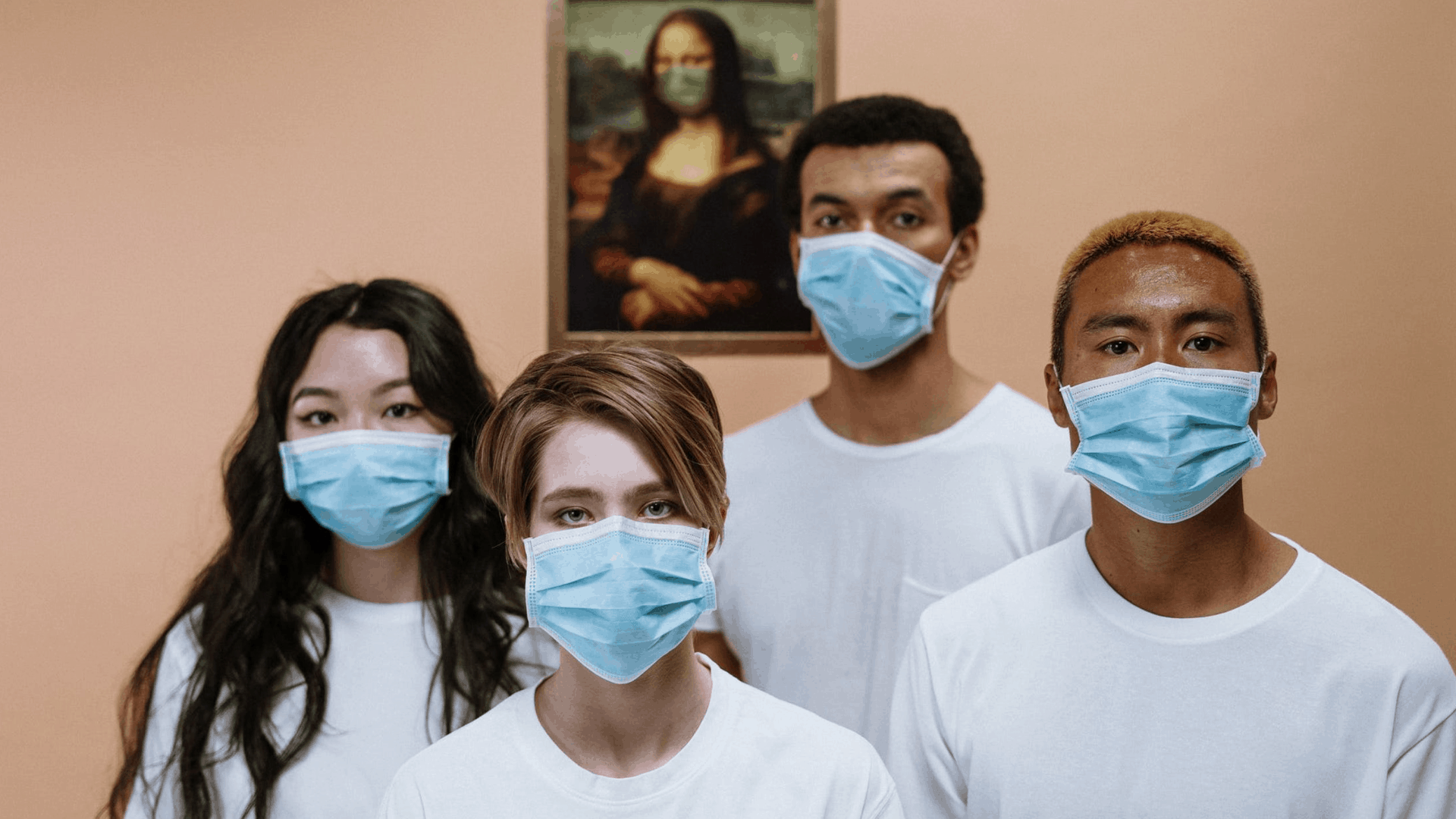 Young People in face masks