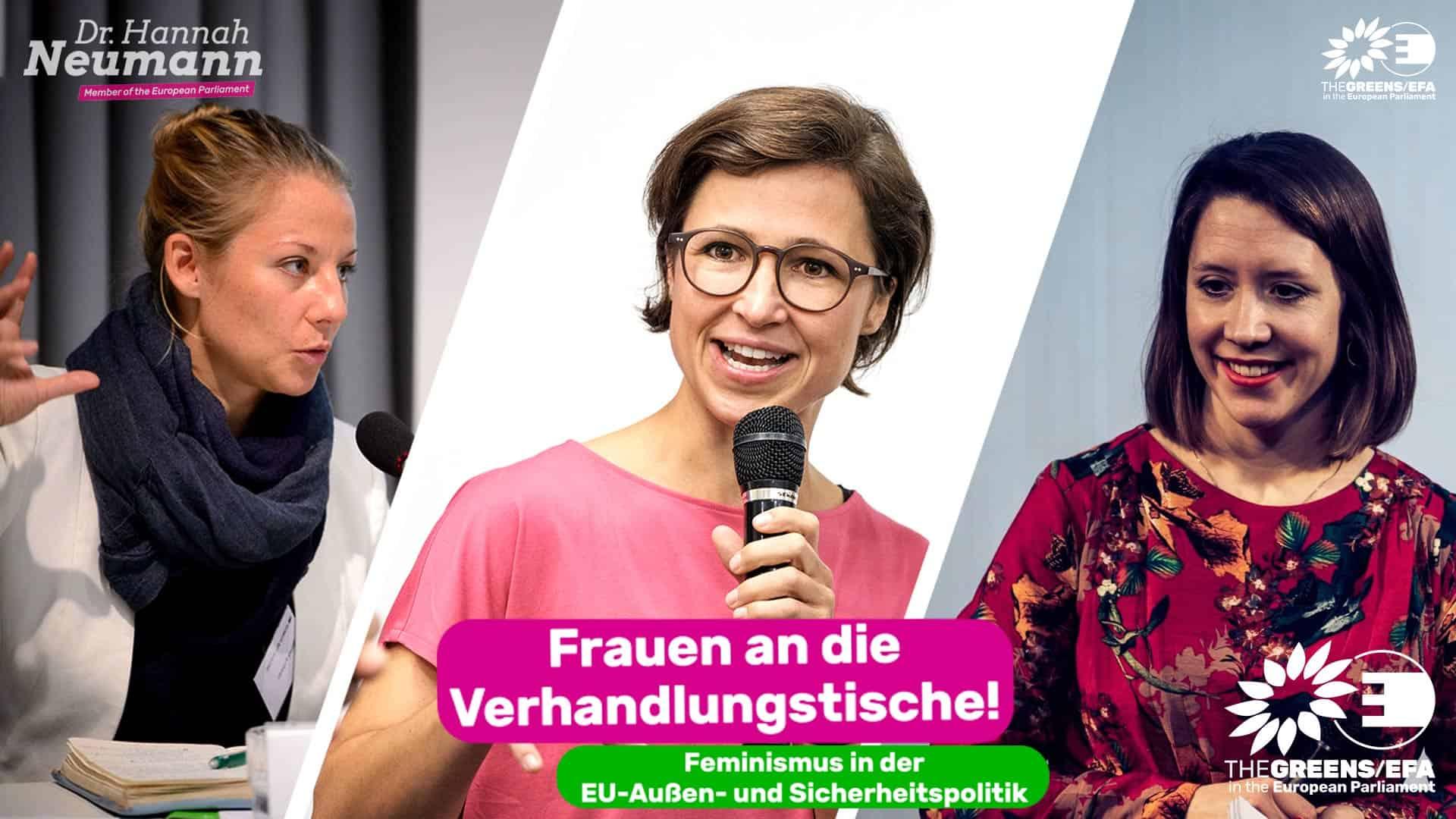 Frauen an die Verhandlungstische! Mein Webinar zur feministischen Außenpolitik in der EU