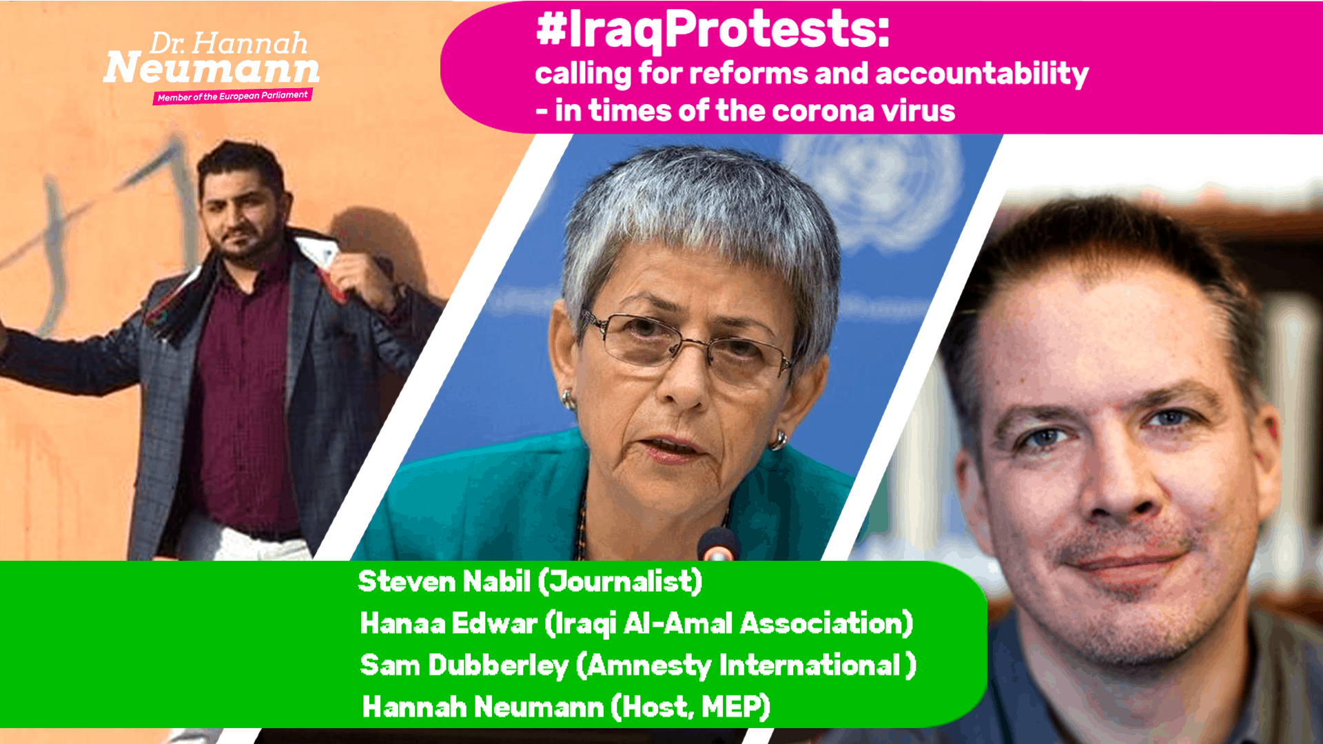 #IraqProstests Banner