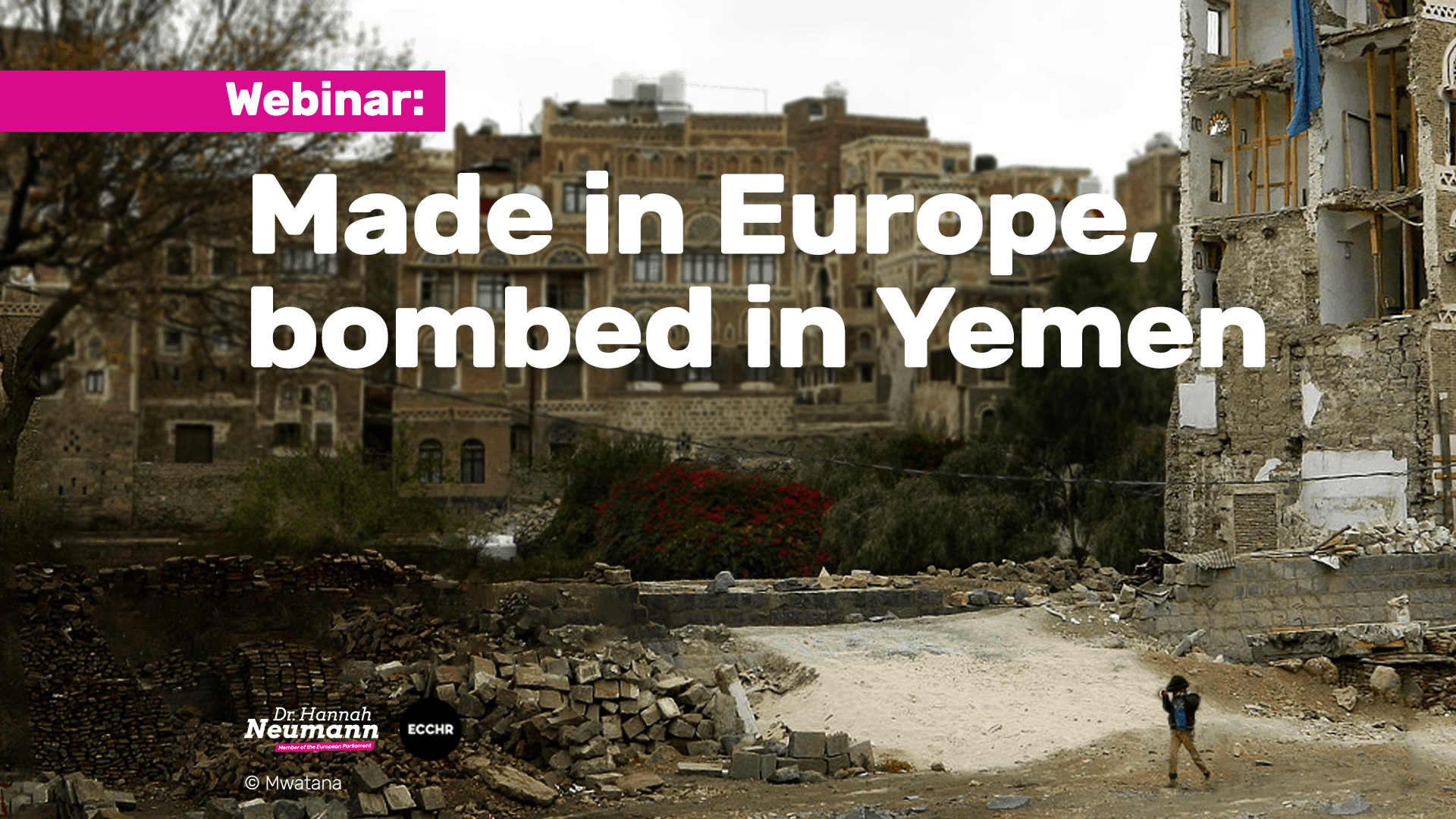 Made in Europe, Bombed in Yemen Webinar