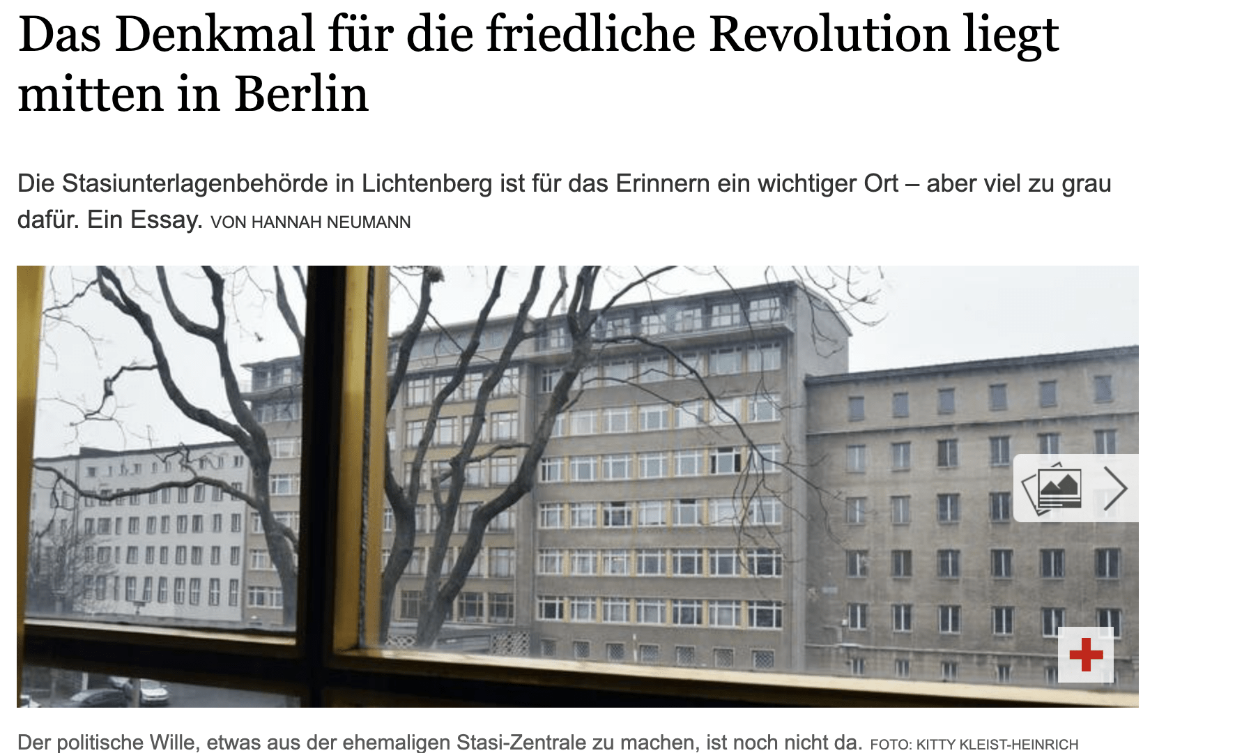 The monument to the Peaceful Revolution is located in the middle of Berlin! My guest article for the Tagesspiegel
